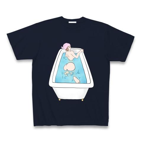 お風呂でおならをする女性 Tシャツ