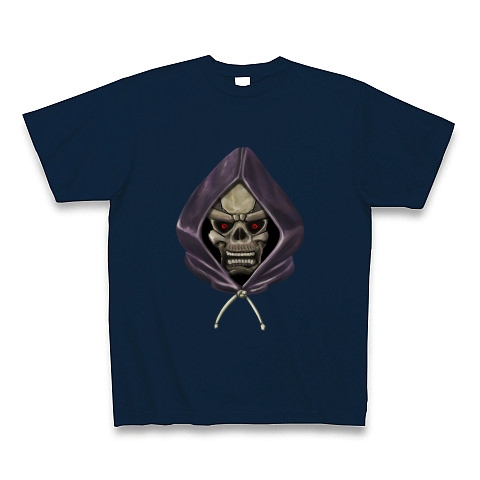 フードを被ったドクロ Tシャツ