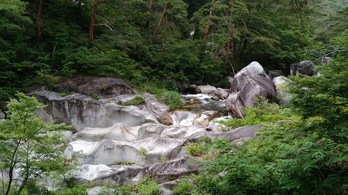 富士石と甌穴