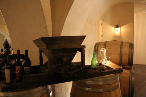 ワインの歴史資料器具の展示もあります。