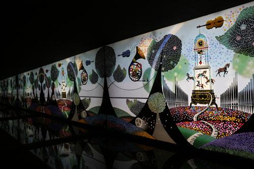 影絵の森美術館  第1展示室(藤城清治展) (16)