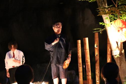 昇仙峡 仙娥滝 ライトアップと竹灯籠のあかり 観光協会会長のご挨拶