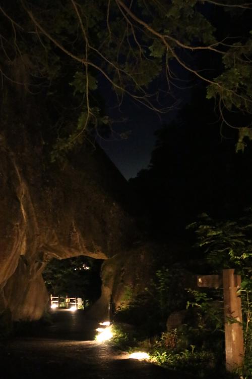 昇仙峡 仙娥滝 ライトアップと竹灯籠のあかり 仙娥滝から金渓館までの道のり (5)