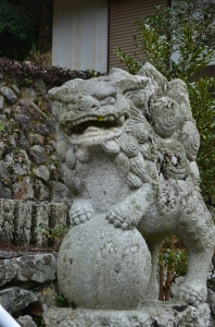 領家八幡神社の狛犬