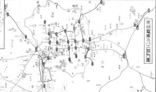 朝鮮発電7京城電車バス案内図1