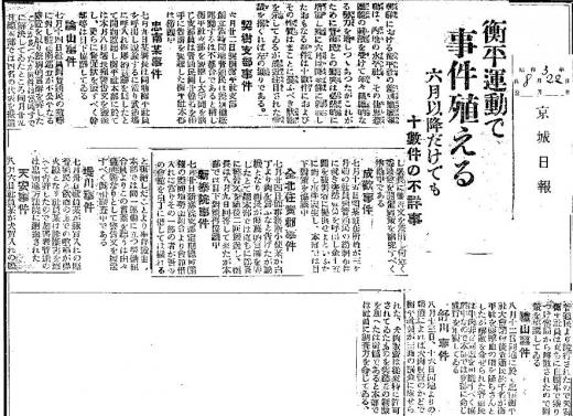 京城日報衡平運動1