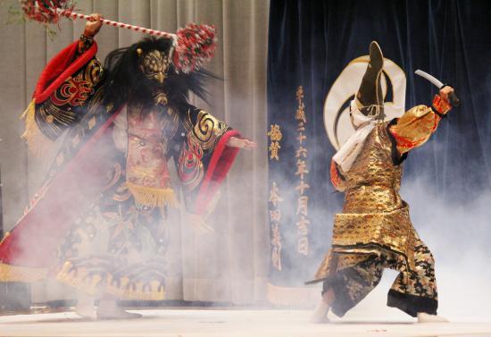 北中山子供神楽団 三鬼4