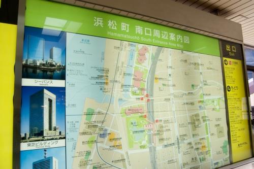 浜松町駅の掲示地図
