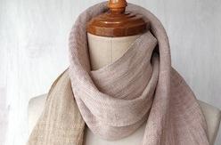 手紡ぎ手織りストール3