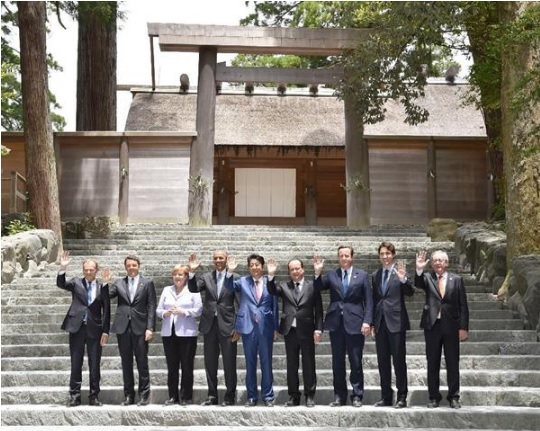 2016-5-27G7伊勢神宮訪問