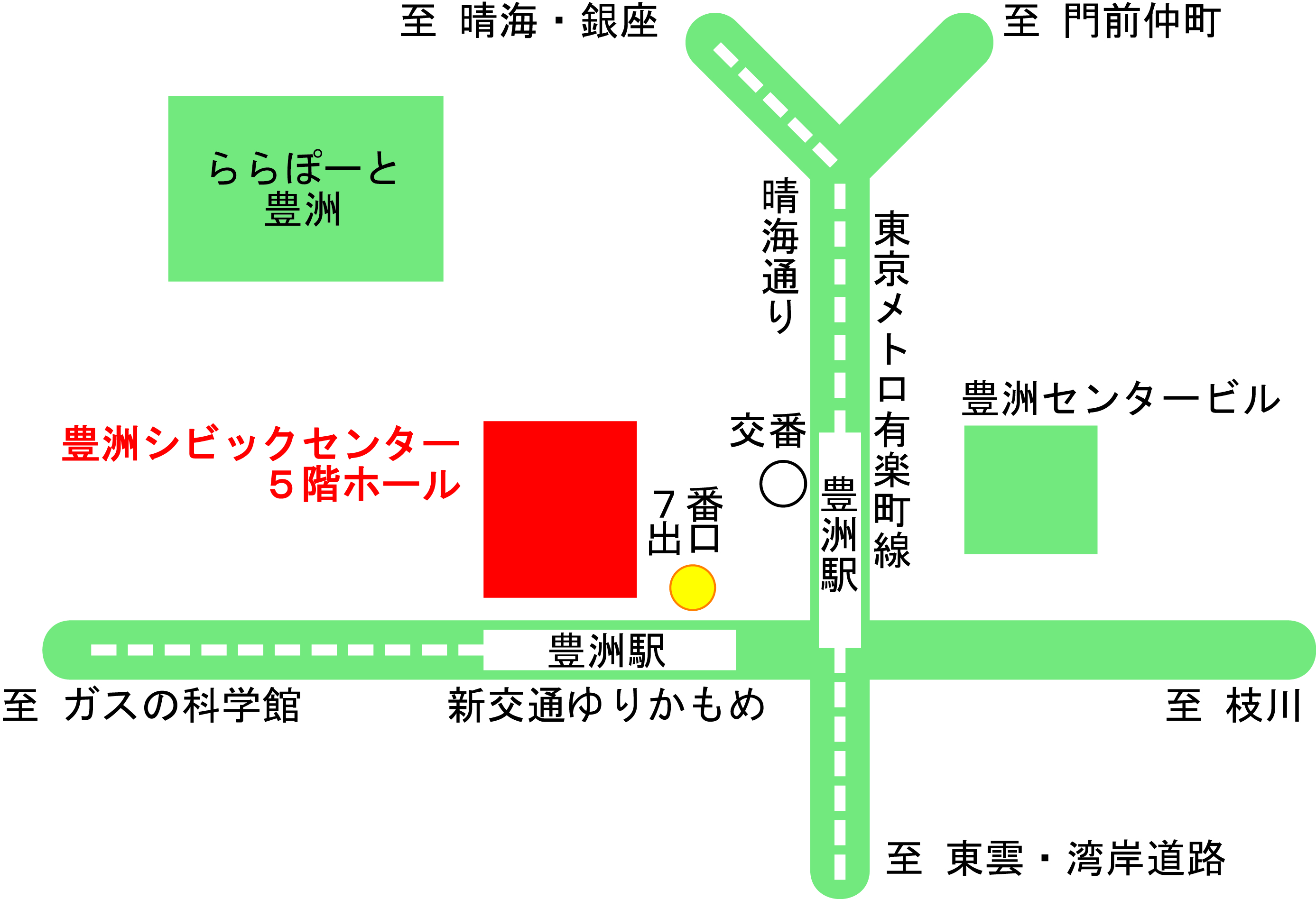 豊洲シビックセンターホール地図