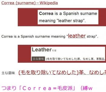 tenCorrea (surname)