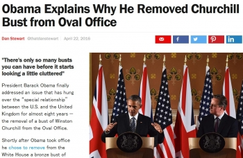 newsObama Explains Why He Removed Churchill Bust from Oval Office