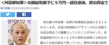 news<舛添都知事>似顔絵和菓子に9万円…就任直後、政治資金で