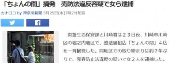 news「ちょんの間」摘発 売防法違反容疑で女ら逮捕