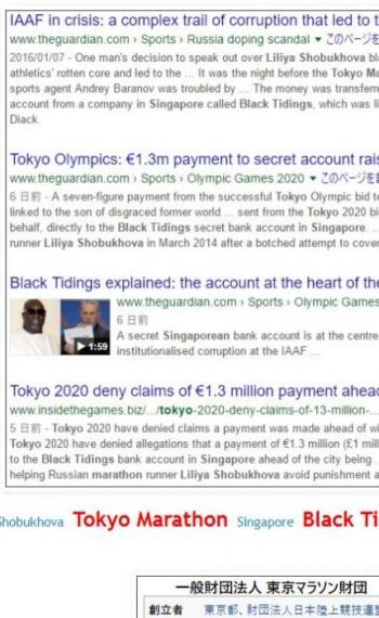 tokLiliya Shobukhova Tokyo Marathon Singapore Black Tidings