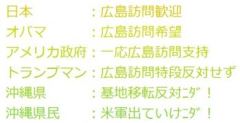 tenトランプマン:広島訪問特段反対せず