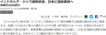 newsインドネシア・ジャワ横断鉄道、日本に建設要請へ