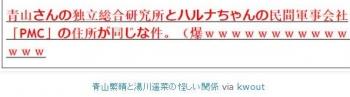 tok青山繁晴と湯川遥菜の怪しい関係