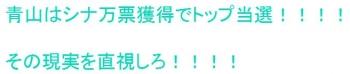 ten青山はシナ万票獲得でトップ当選
