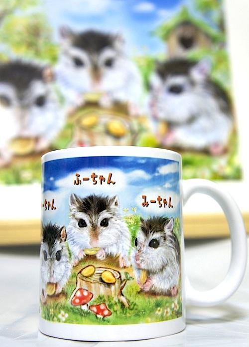 ペットの似顔絵マグカップ
