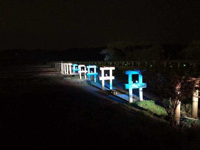 蓬莱橋ライトアップ1
