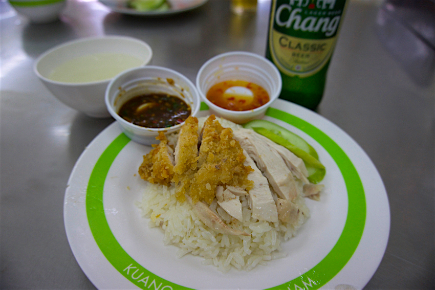 バンコク旅行記 緑のカオマンガイ カオマンガイ