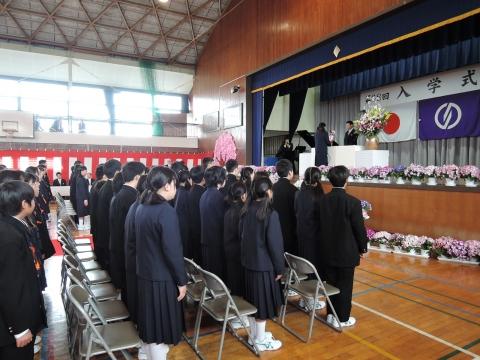 平成28年4月8日府中中「入学式」①