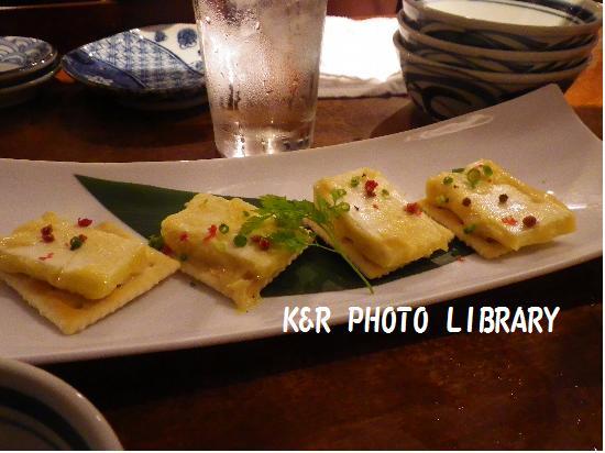 2015年8月2日クリームチーズの味噌漬クラッカー