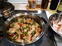 玉ねぎソースで創作料理