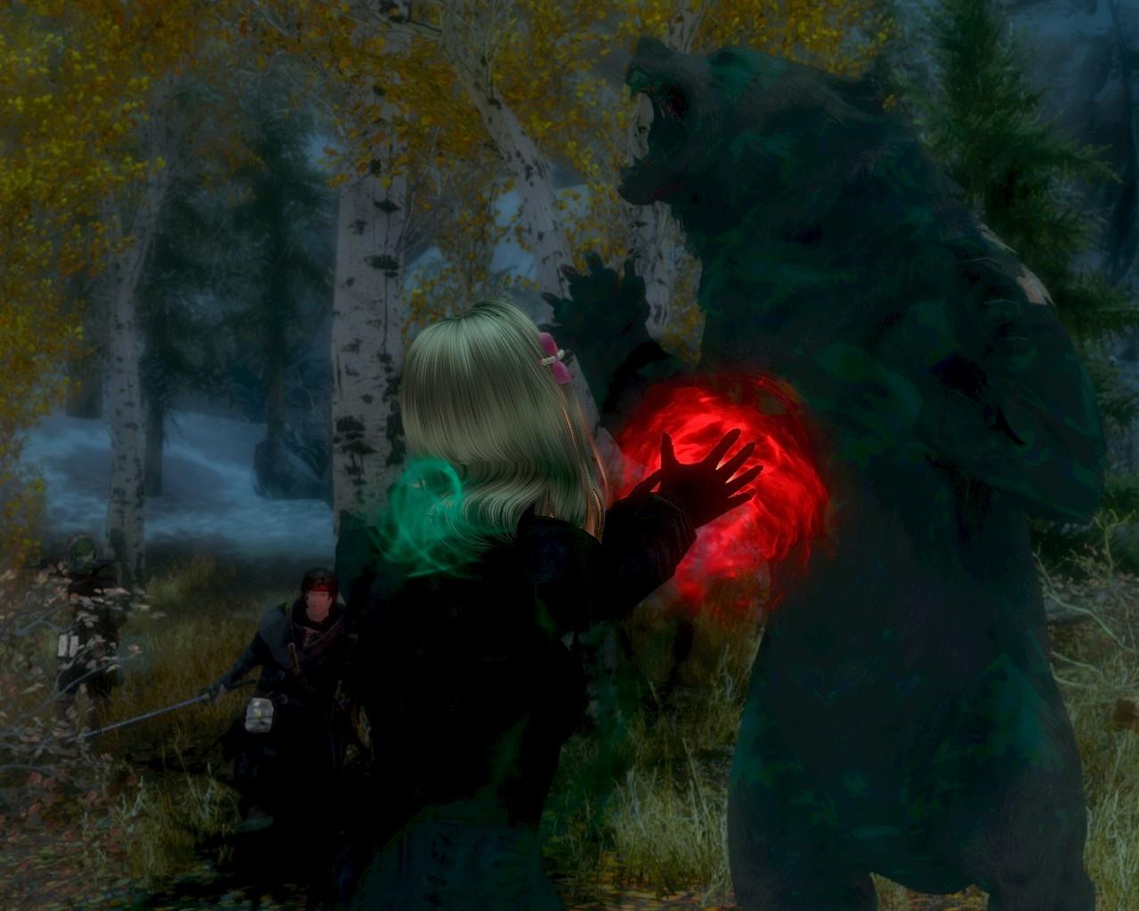 04赤い光を放つ魔法