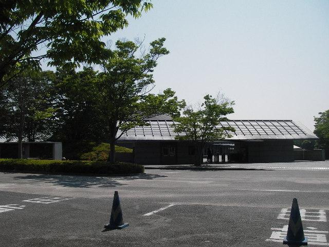 佐川美術館駐輪場所からの眺め201605