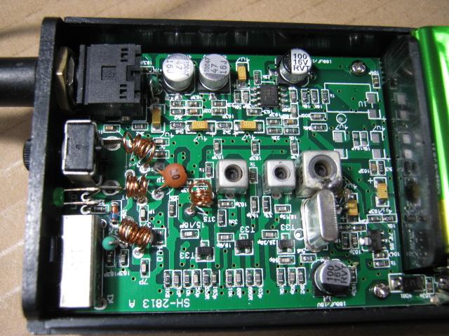ワイヤレスアンプAK-122(送受信周波数ミスマッチ)診察1
