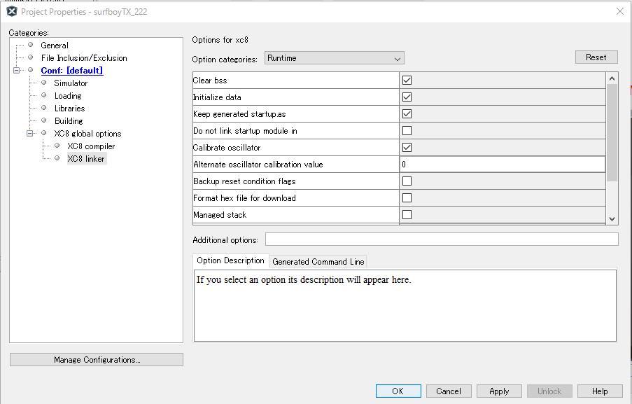 XC8での内部OSCキャリブレーション値の設定2