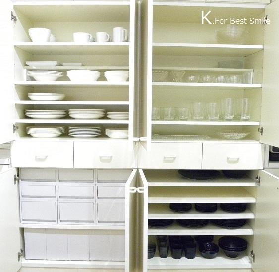 15>キッチンの食器棚引き出し収納