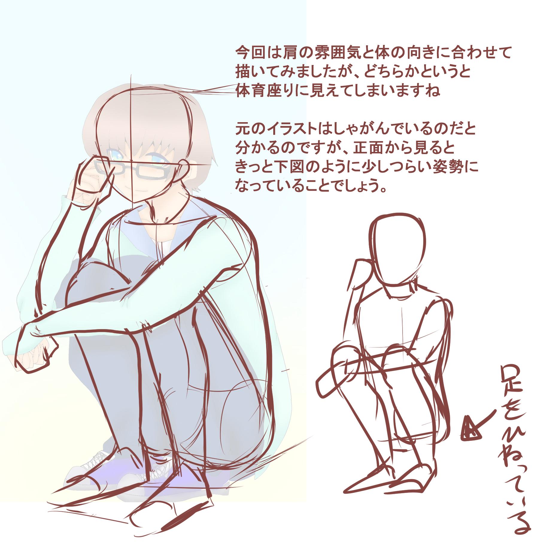 姿勢の違和感