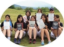 桜の聖母短大女子団体準優勝