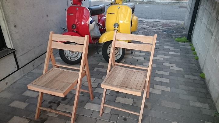 旧椅子べスパバック