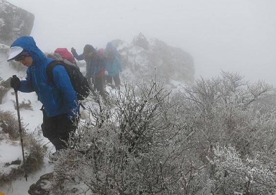 1由布岳登山