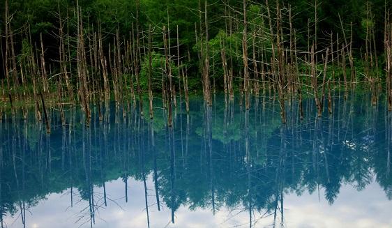 10青い池