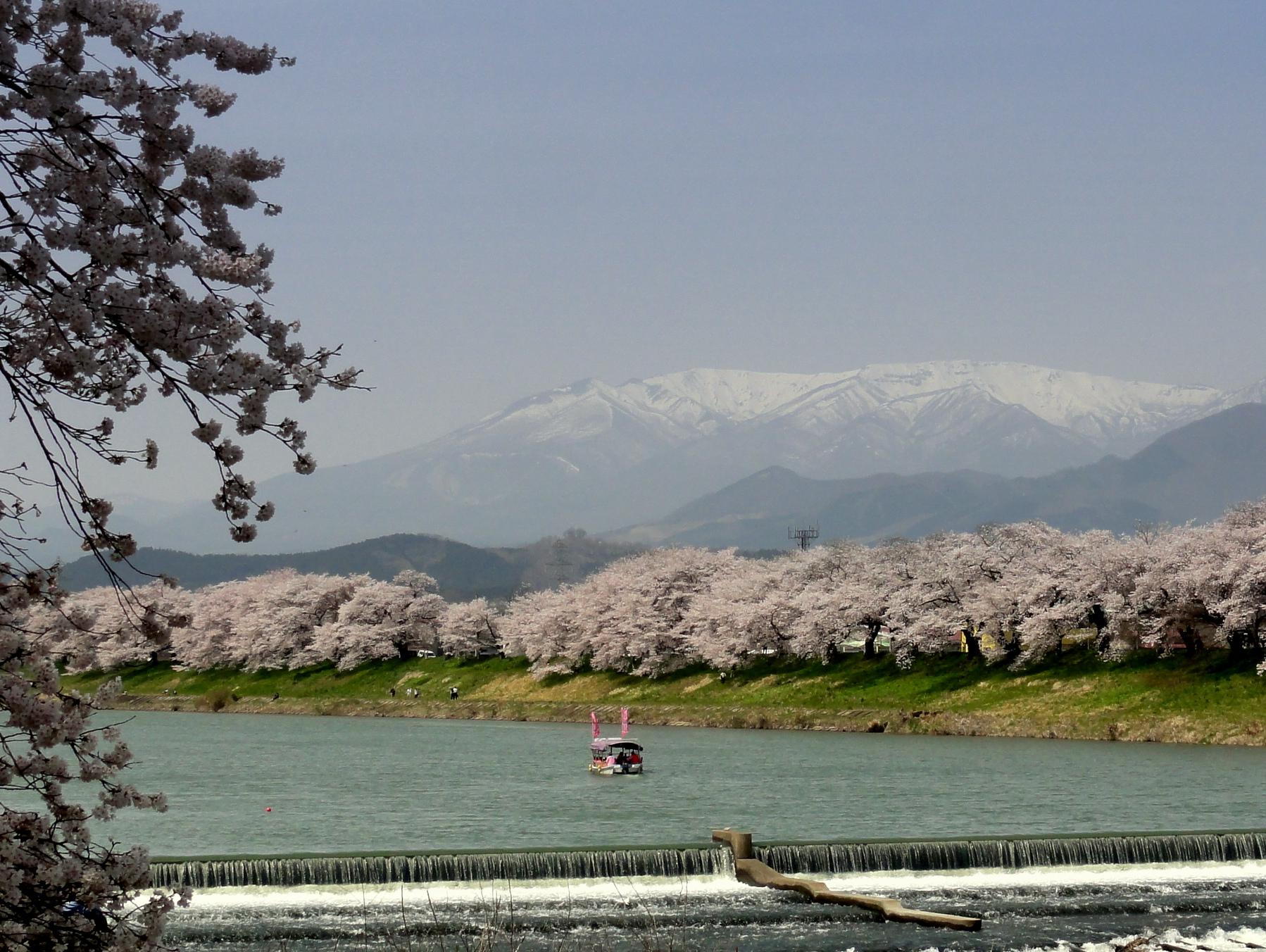 韮神堰から蔵王連峰3