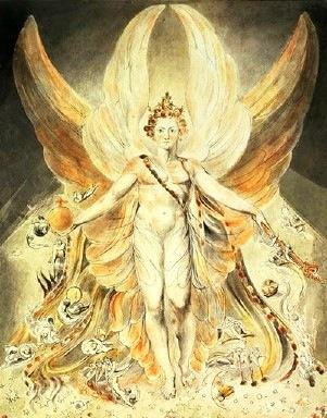 ウィリアム・ブレイク「光を掲げる者ルシファー」
