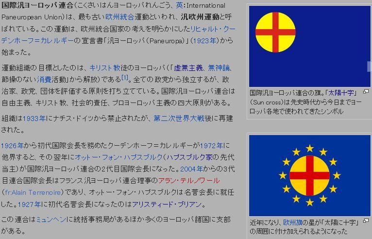 国際汎ヨーロッパ連合の旗太陽十字」(Sun cross)、グノーシスのシンボル