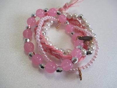 豪華なピンク系ブレスレット1