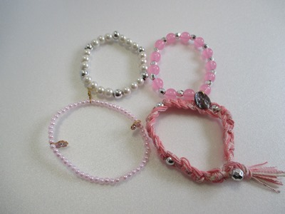 豪華なピンク系ブレスレット2