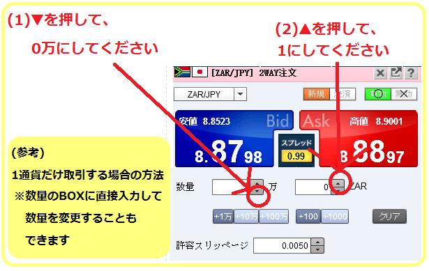 SBIFX-1通貨取引方法