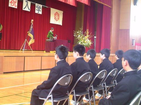 H28年度墨坂中学校入学式