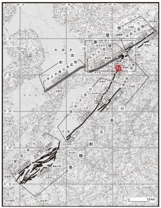 日奈久断層 高野-白旗区間の間にagriomomeの畑有