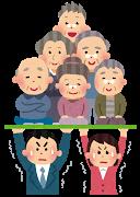 老人(高齢化社会