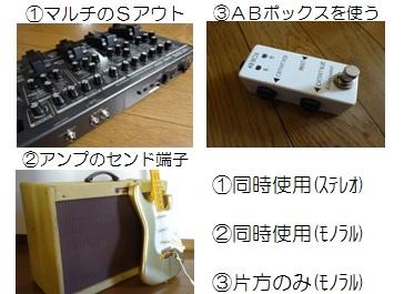 2台のギターアンプ(接続方法